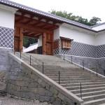 勝海舟と坂本龍馬が、上ったと思われる石段。(長崎奉行所立山役所跡地)