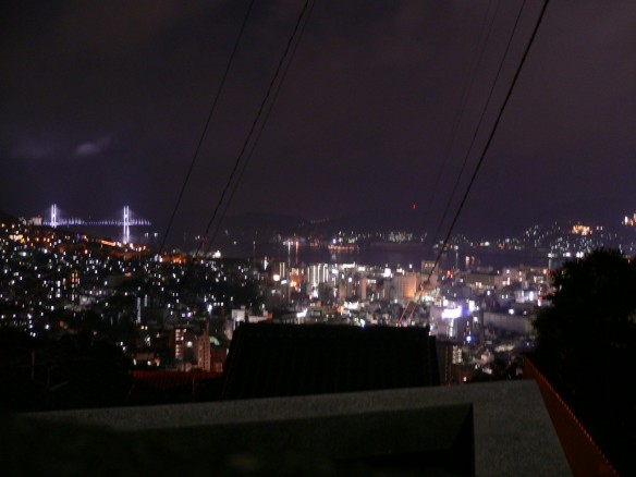 亀山社中から見る、日本三大夜景。長崎の夜。